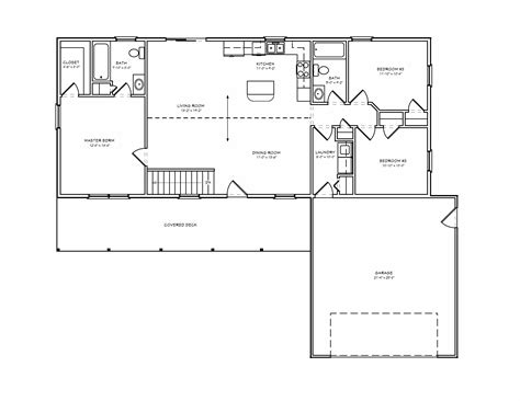 Small 3 Bedroom Cabin Plans by Simple Rambler House Plans With Three Bedrooms Small