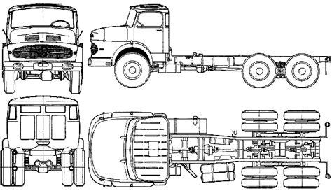 500 Sketches Pdf by Car Blueprints 1962 Mercedes L2623 Truck Blueprint