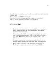 Hadoop Seminar Report