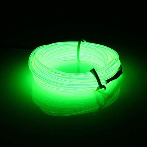 Glowing Neon Led Lights El Wire String Strip Rope 3m Tube Neon String Lights