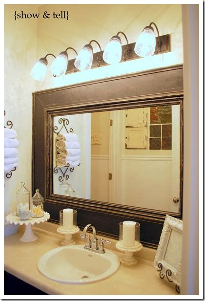 framing bathroom mirror with molding kids bathroom w framed builder mirror sweet pickins