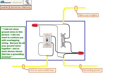 wiring a gfci outlet with a light switch diagram 48