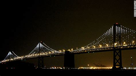 Bay Bridge Light Show by San Francisco Turns A Bridge Into With 25 000 Lights Cnn