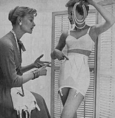 women in girddles spirella corsets in the 1960