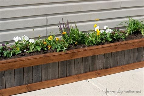 how to build planter how to build an upcycled planter box infarrantly creative