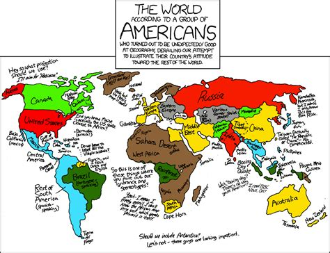 map world according to a map of the world according to america things