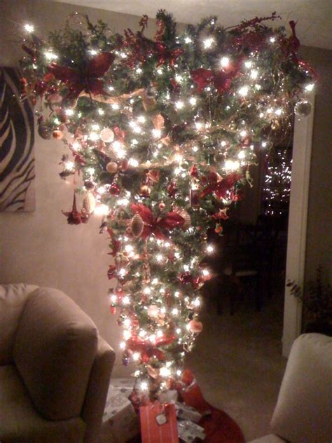 upside down christmas trees christmas decor pinterest upside down christmas tree christmas trees decor