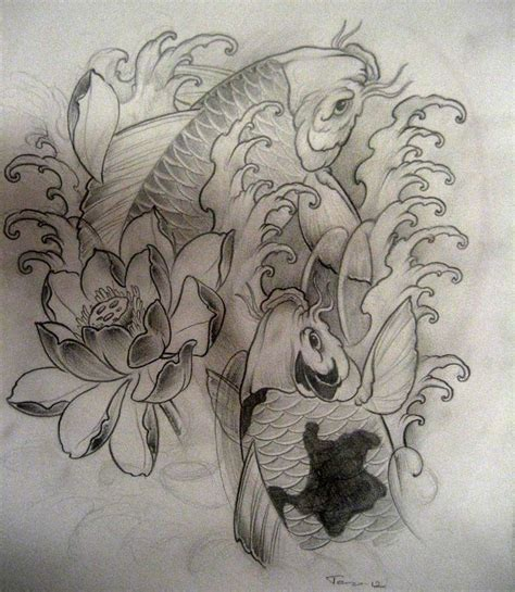 tattoo koi drawing koi fish tattoos