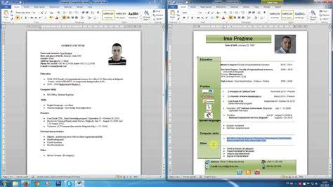 format obrazac za cv kako napisati cv u wordu razgovor za posao cv na engleskom