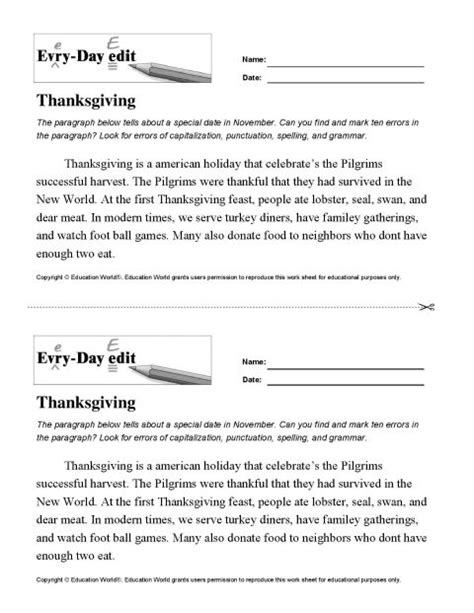 Daily Edit Worksheets by All Worksheets 187 Daily Edit Worksheets Printable Worksheets Guide For Children And Parents
