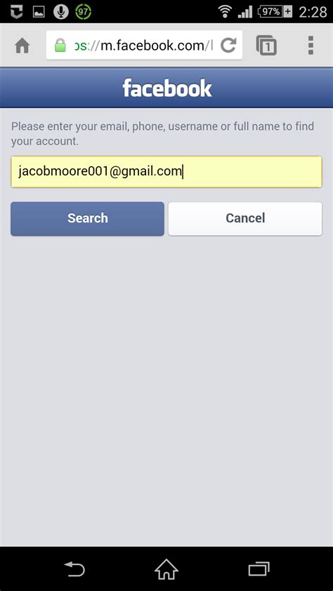 Search Fb Account By Email How To Change Password On
