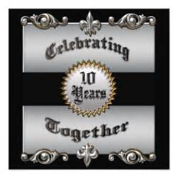 10th wedding anniversary invitation 5 25 quot square invitation card zazzle