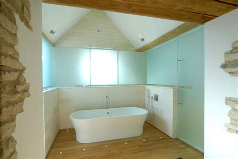 bathroom floor lighting 18th century barn conversion in