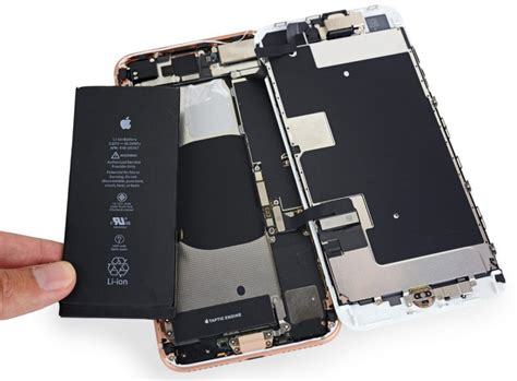 apple iphone 8 and 8 plus teardown confirms smaller battery qualcomm snapdragon x16 and intel