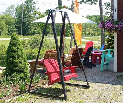 single outdoor swing quot antique red quot single porch swing wiscasset newspaper