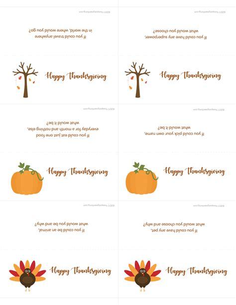 printable thanksgiving conversation cards thanksgiving place cards and conversation starters