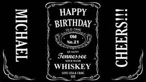 personalised jack daniels label for 1lt bottle any colour