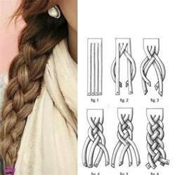 howtododoughnut plait in hair 4 strand braid tutorial hair pinterest hair and