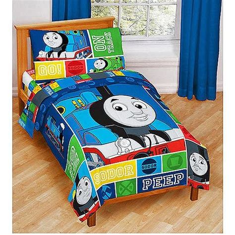 thomas and friends toddler bed thomas the train bedding thomas friends 4pc toddler bedding set at toystop