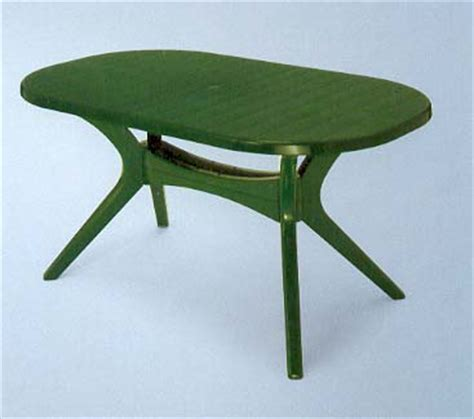 ac green garden table oval 150cm x 90cm resin patio