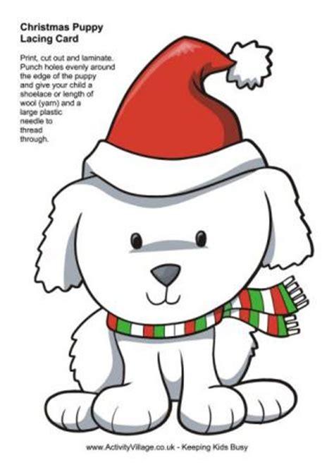 free printable christmas lacing cards dog printables