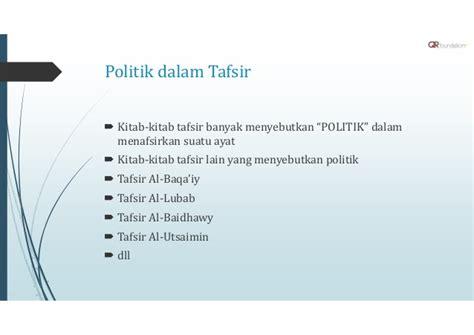pendidikan politik dalam islam