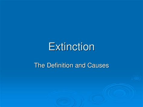 ecological extinction