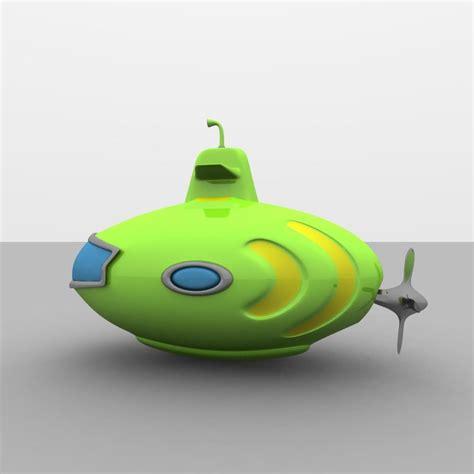 toy boat obj toy submarine obj
