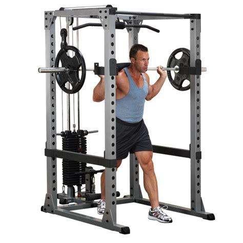 big 5 bench press power rack with lat pull attachment strength nomad