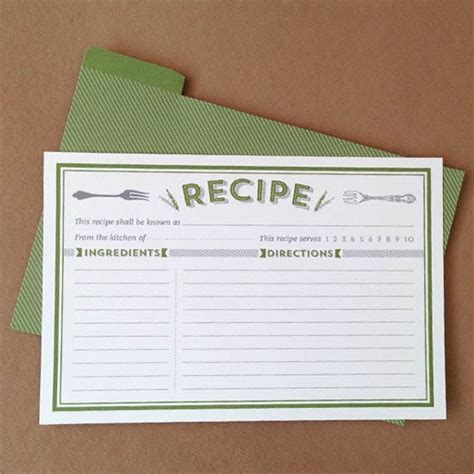8 Free Recipe Card Templates Excel Pdf Formats Recipe Cards Free Templates