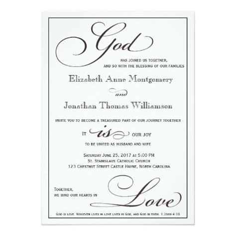christian wedding invitations god is christian script wedding invitation weddings