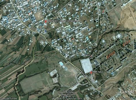bin laden abbottabad google earth osama bin laden compound in abbottabad the daily google