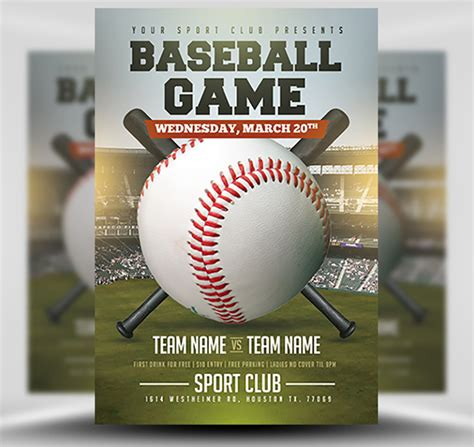 Baseball Flyer Template 2 Flyerheroes Baseball Flyer Template