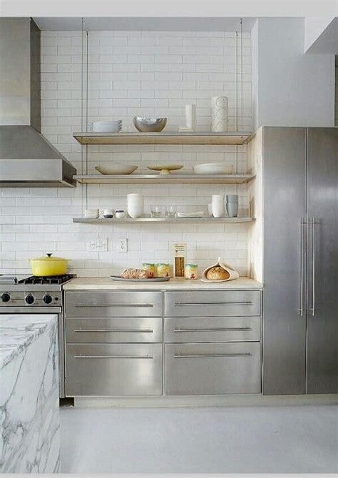 modern kitchen shelves stainless steel kitchen floating shelves home is