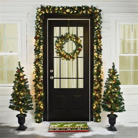 pre lit entryway christmas scene 6 piece christmas tree