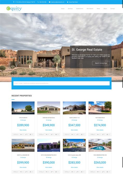 equity real estate utah web design ed logic