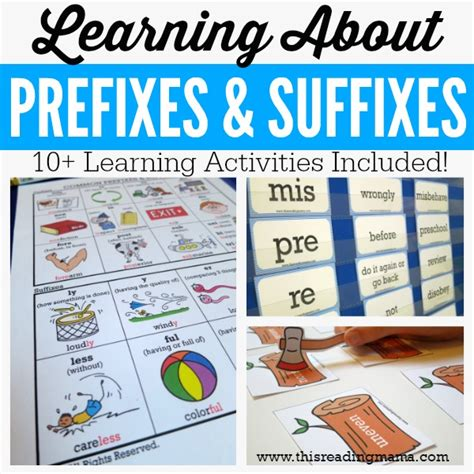 printable games for prefixes and suffixes learning about prefixes and suffixes free pack