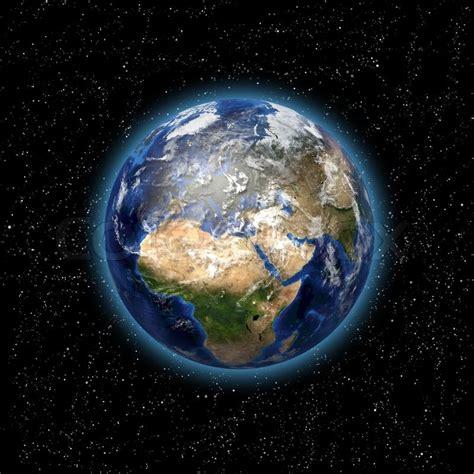 imagenes 4k de la tierra stars and planet earth in the space 3d image stock