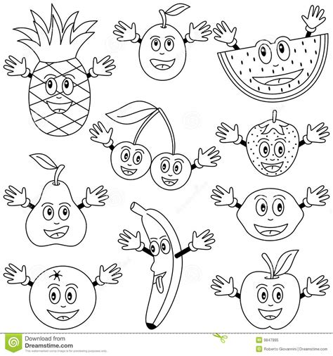 kawaii fruit coloring pages w for watermelon fruit coloring pages cute drawing kids