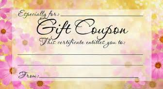 diy free printable gift coupon give a gift from the