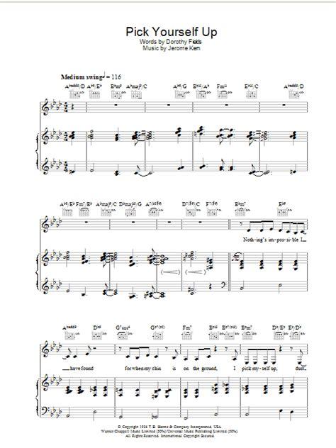 picking sheet pick yourself up sheet music direct