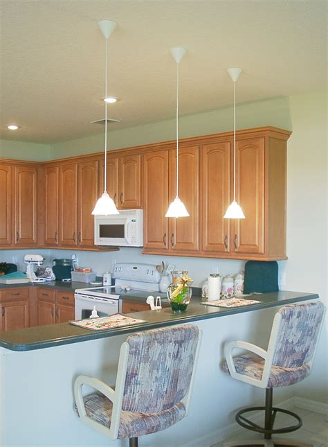 hang lights kitchen counter home ideas