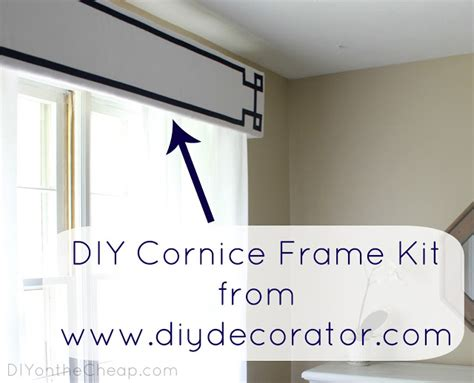 Cornice Frame New Window Treatments Diy Cornice Frame Kit Review
