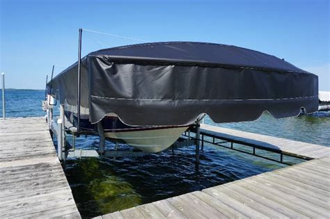 boat lift brands shorestation brand 5000 lb boat lift with solar powered