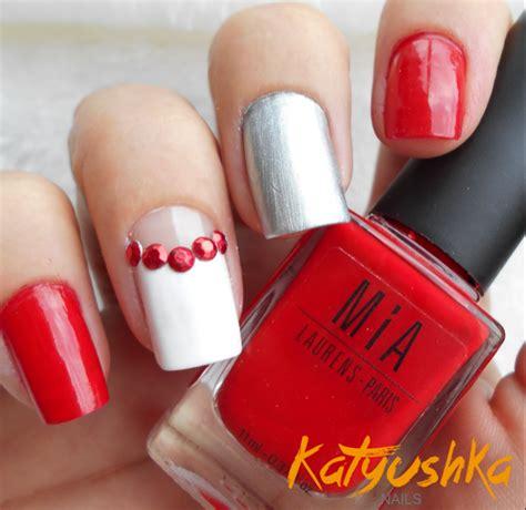 imagenes de uñas rojas con plateado u 241 as decoradas rojo parte 1 katyushka nails