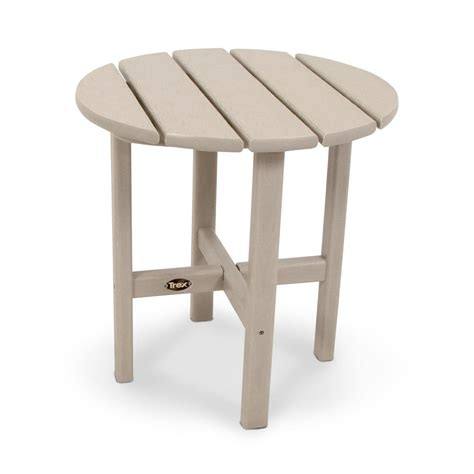 home depot side table trex outdoor furniture cape cod 18 in sand castle round