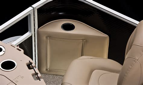 corner with cup holders sx22 fishing pontoon boats by bennington