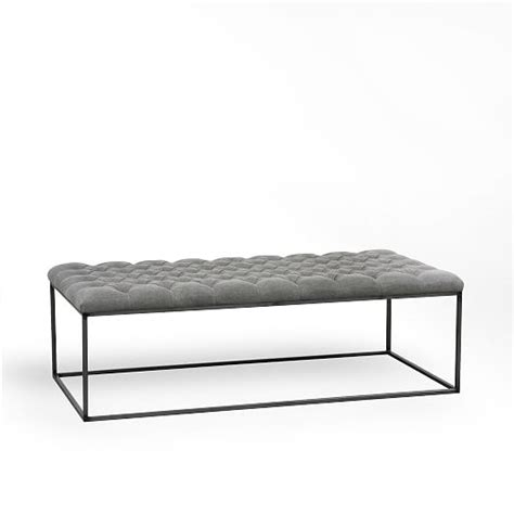 west elm tufted bench tufted ottoman west elm