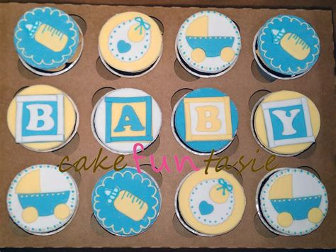 Boy Baby Shower Cup Cakes by Cake Funtasie Baby Shower Boy Cupcakes