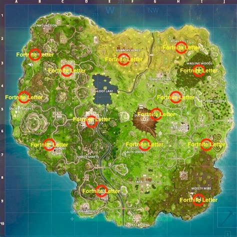 where fortnite letters are located fortnite letters locations where to search the f o r t n